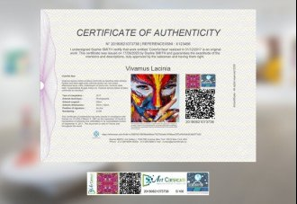 Certificate of authenticity PREMIUM